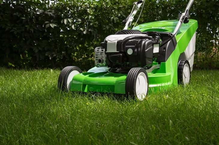 A lawn mower is used to cut grass and maintain the beauty of a lawn 1