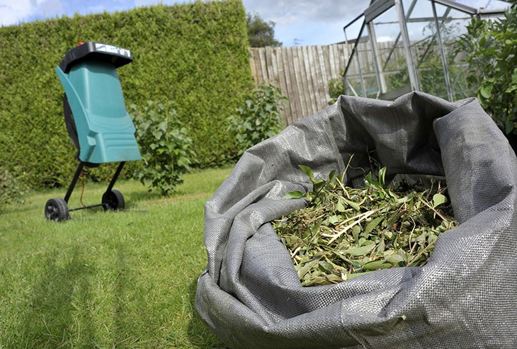 Chipper shredders chip the branches and twigs into smaller and finer pieces like the picture above