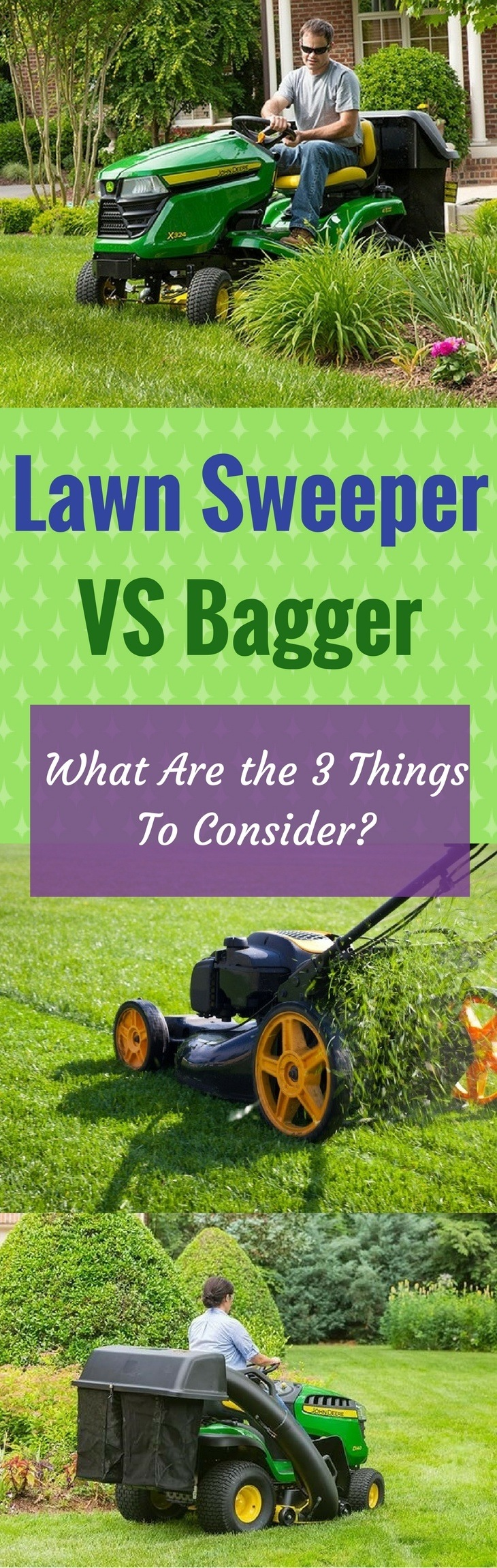Lawn Sweeper vs Bagger: What Are the 3 Things To Consider?