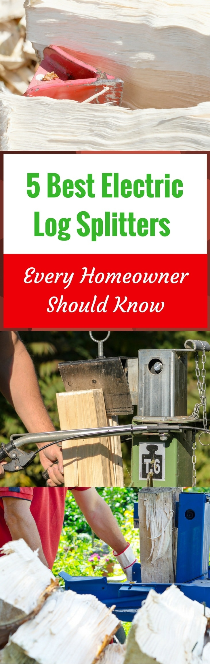5 Best Electric Log Splitters Every Homeowner Should Know - pin it
