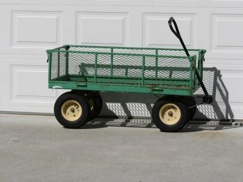 An example of a common utility wagon used in gardens.