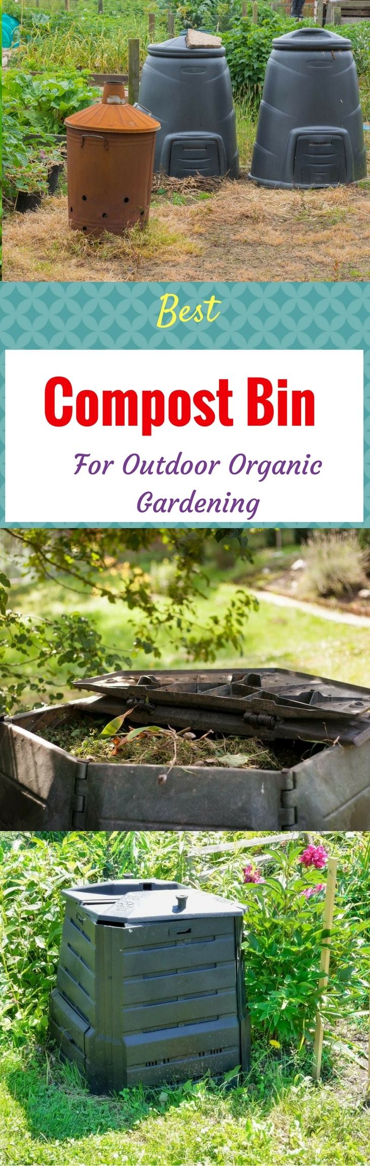 Best Compost Bin for Outdoor Organic Gardening pin it