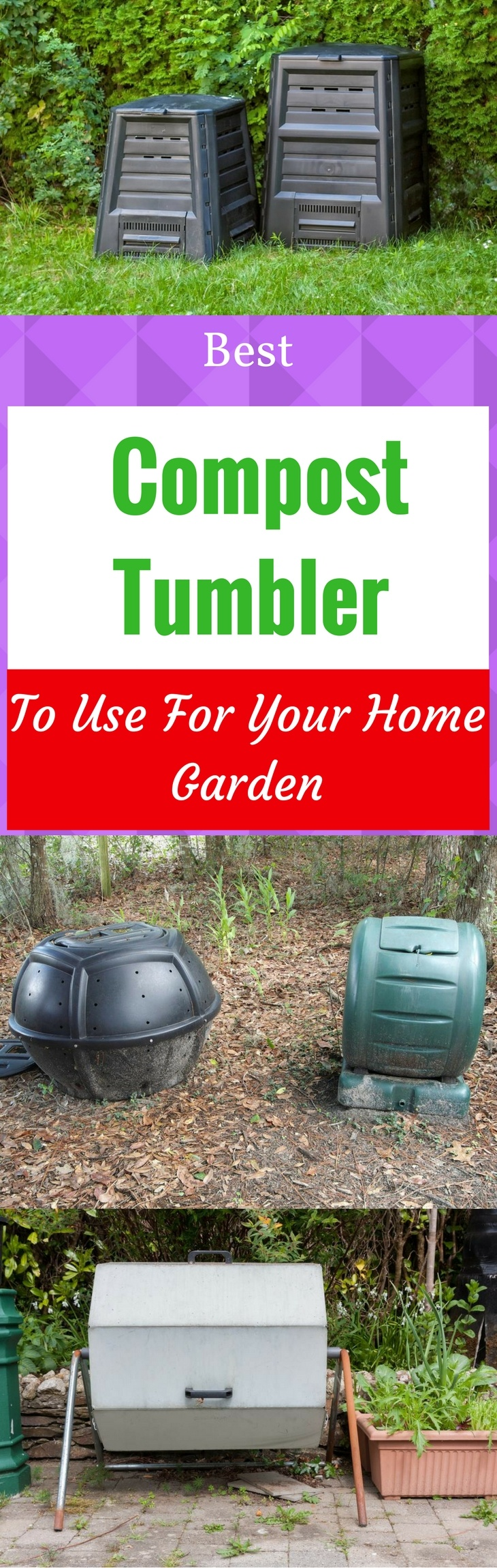 Best Compost Tumbler To Use For Your Home Garden - Pin it