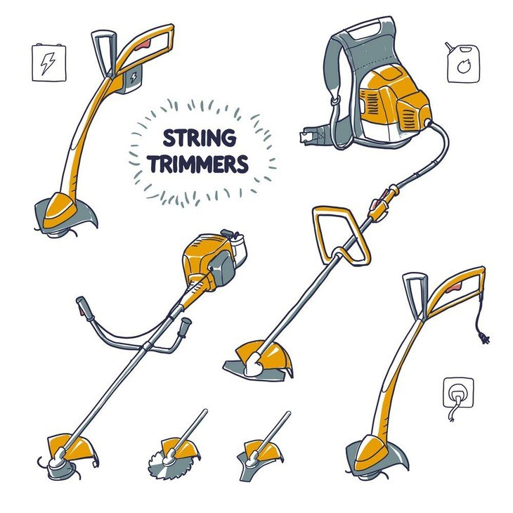 String trimmers also come in different models