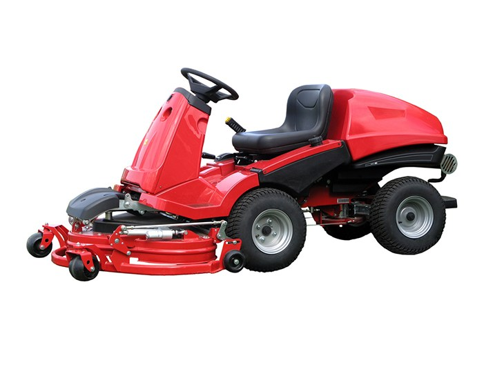 This rear engine riding mower allows for an easy and convenient mowing process