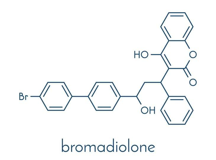 Bromadiolone is a widely used compound in rat poisons as it is a deadly second-generation anticoagulant that can cause lethal internal hemorrhages in rats and mice