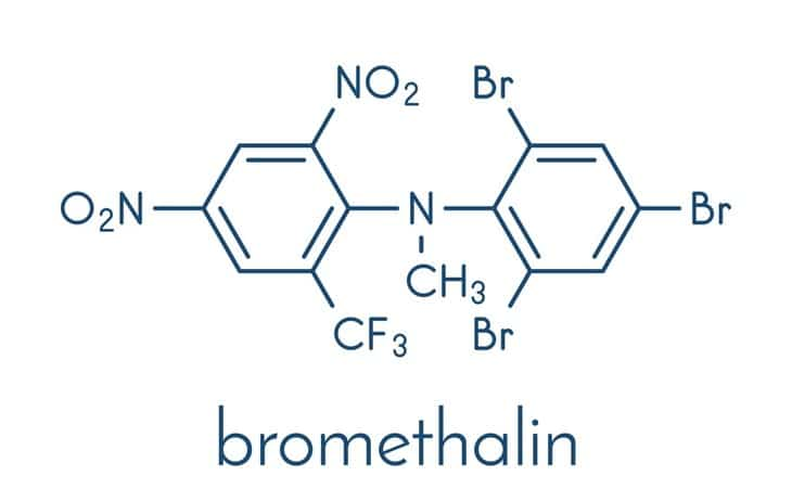 Bromethalin is a dangerous neurotoxin that is slowly replacing anticoagulants as rodenticides