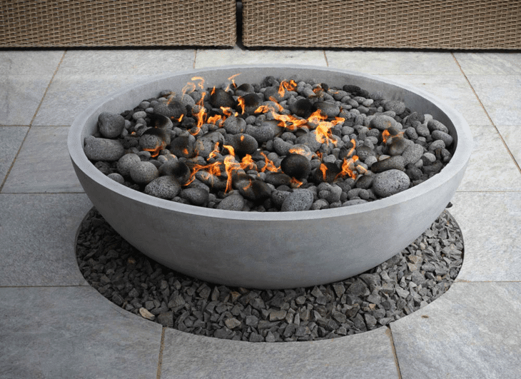 Fire pits made of stone are among the most popular products in the market.