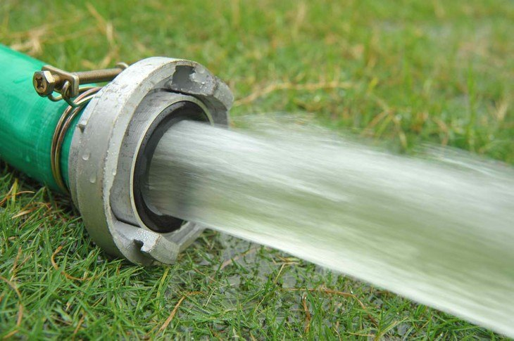 Water pressure is the basic principle that makes the sprinklers travel