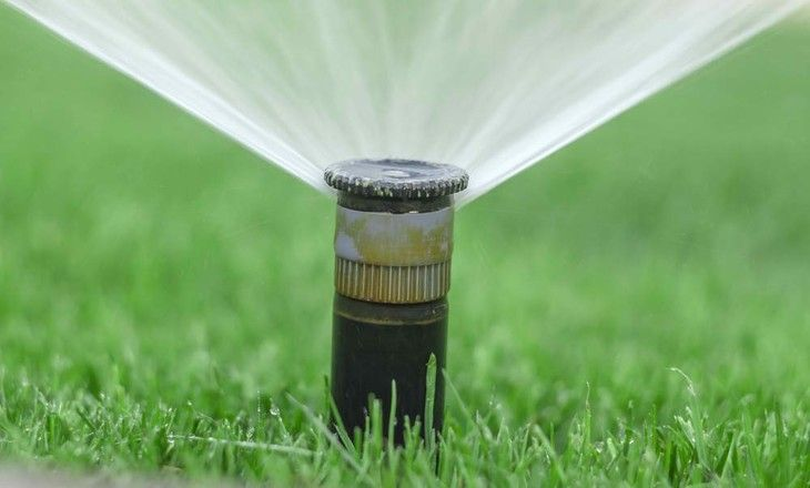 Water sprinklers that stay in place are ideal for small lawns