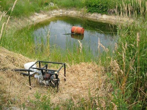 A nearby body of water such as a small pond or lake could be used as a water source for your sprinkler system.