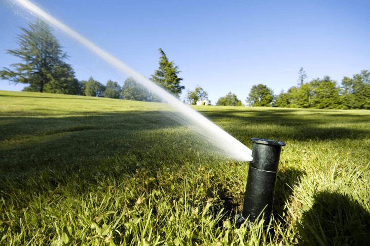 An inground sprinkler system ensures your lawn can get the watering it needs.