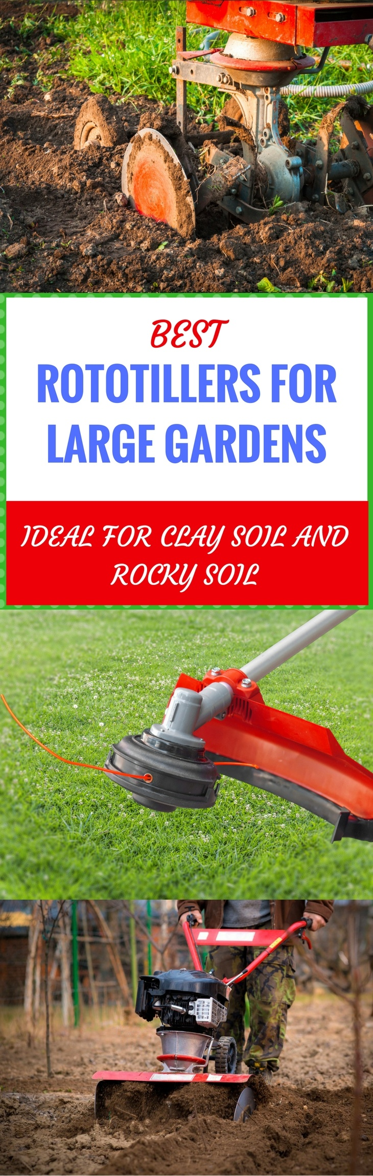 best rototillers for large gardens pin it