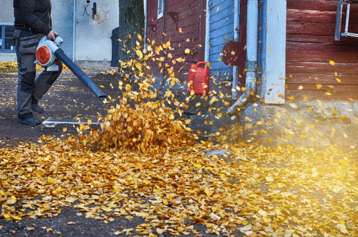 A handheld leaf blower is ideal for small yards