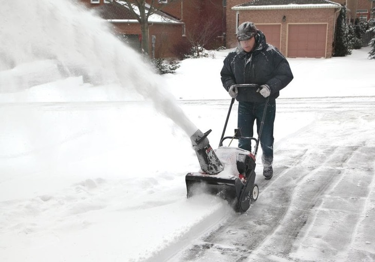 A snow blower is technically the bigger and more powerful version of a snow thrower.