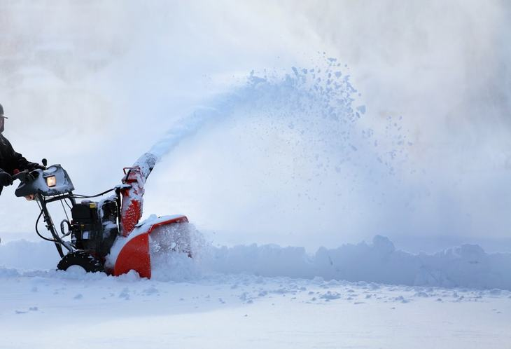 A snow thrower makes snow clearing as quick and easy as possible