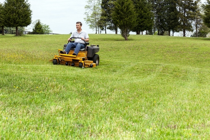 For your information, zero turn mowers are standard lawn mower