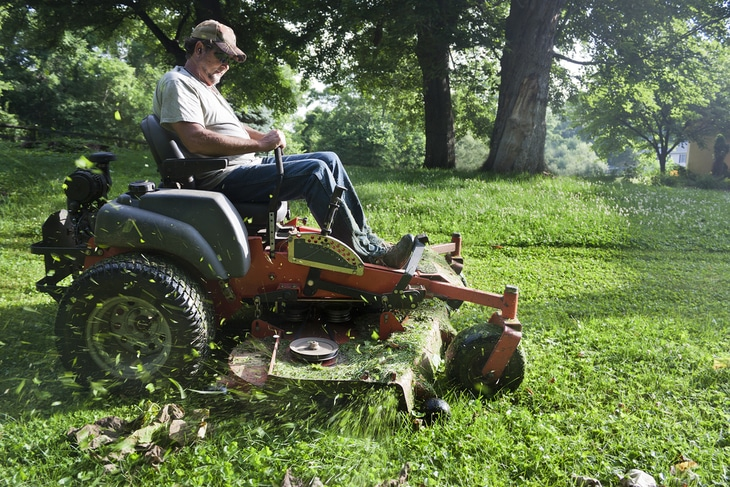 Most riding lawn mowers are meant for larger areas, but only those which have heavy-duty features can work well on sloppy or hilly areas