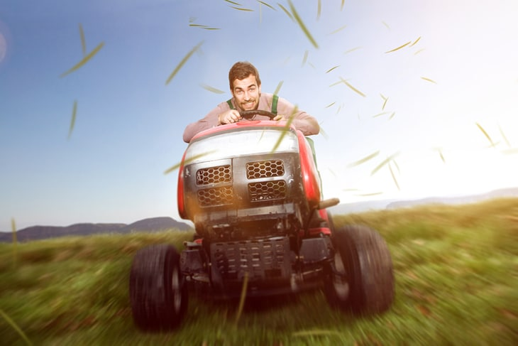 Riding lawn mowers are best for large-sized lawns