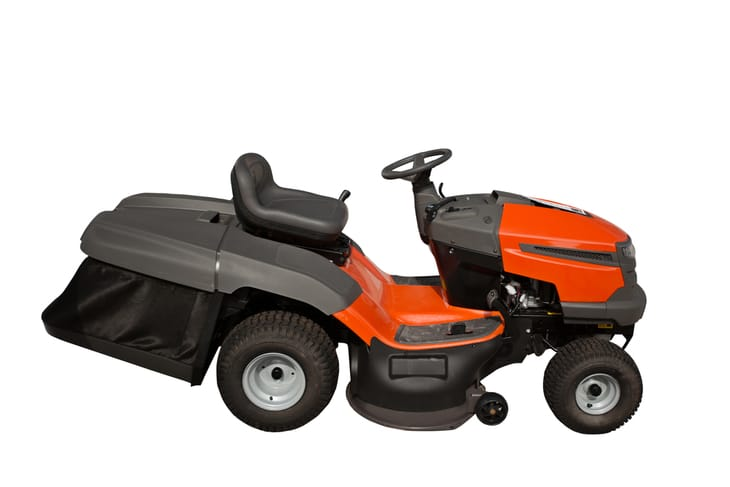 Riding lawn mowers are often used by commercial landscapers because it is more productive