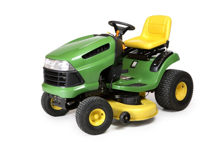 Riding lawn mowers has the engine capacity that is double that of walk-behind lawn mowers