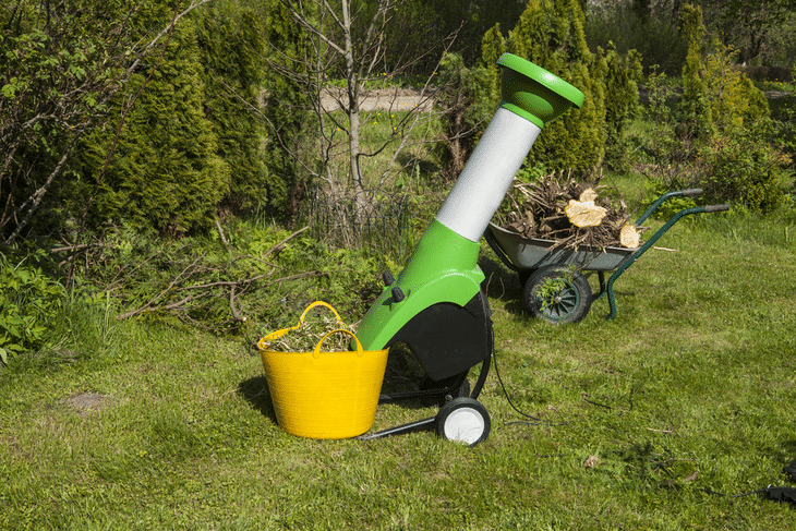 A heavy-duty leaf shredder is good for bigger gardens