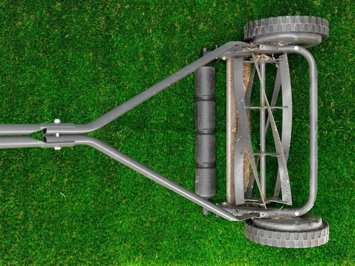 A reel mower with height adjustment helps you mow bermuda grass with ease