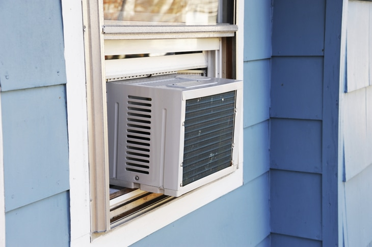 A window air conditioner is the best bet for most homes and grow rooms