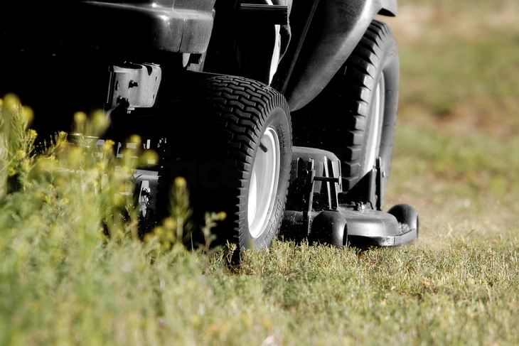 For zero turn mowers, four-ply tires are recommended