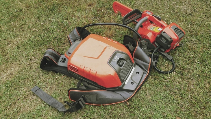 Li-ion battery backpack powered chainsaw, the brand name is uncertain - Best Stihl Chainsaw For Cutting Firewood