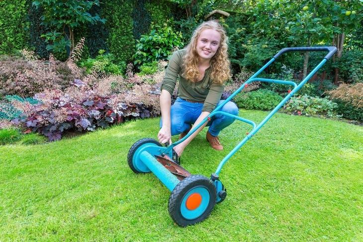 Robust handles are needed for a stress-free pushing of lawn mowers