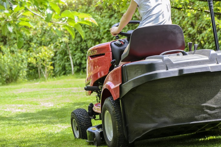 Some mowers with an automatic and hydrostatic transmission come with a cruise control that allows the user to mow long stretches at one speed