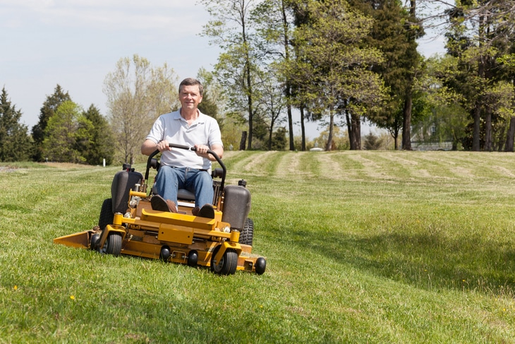 The steering handles of the zero turn mower is less complicated as compared to other mowers