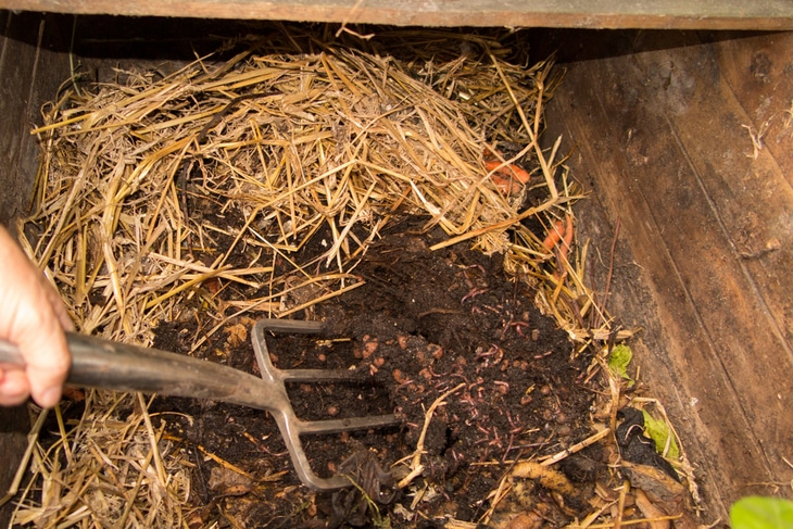When you say composting, it refers to the process of breaking down the organic materials naturally in the soil