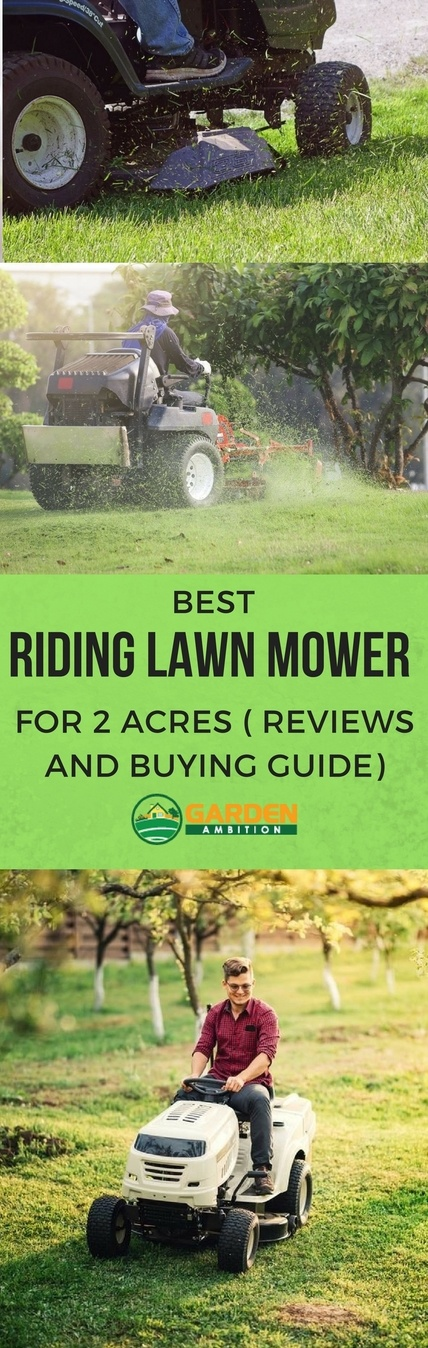 best riding lawn mower for 2 acres pin it