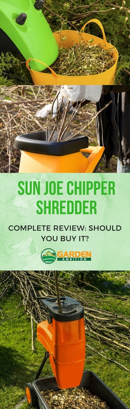 Sun Joe Chipper Shredder review pin it
