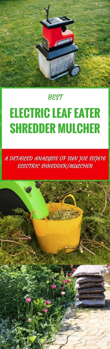Sun Joe SDJ616 electric leaf eater shredder mulcher pin it