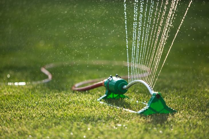 You might have to manually stake a lightweight sprinkler to the ground so make sure you have the proper resources if it is what you are going to buy