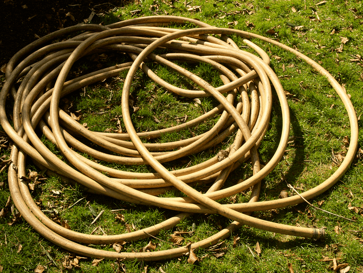 A long hose is good for bigger and wider gardens
