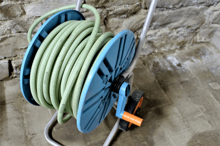 Rubber garden hoses are the most common in any household and are mostly stored through this reeling mechanism