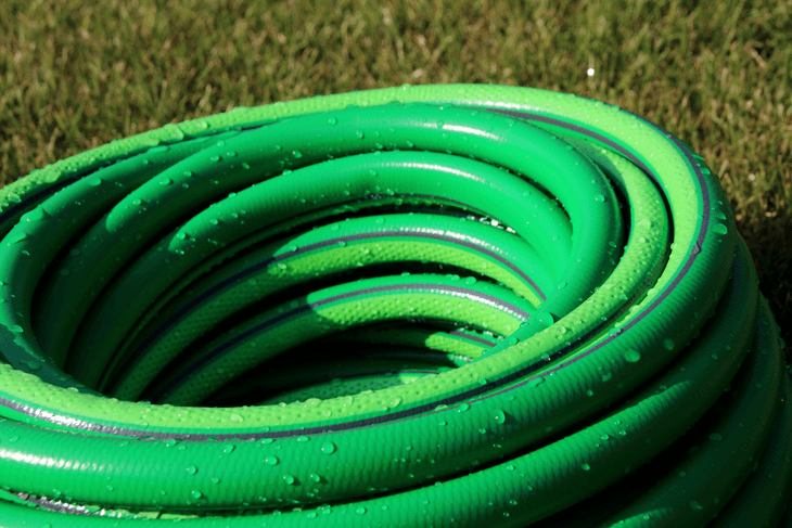 Rubber garden hoses are the most popular because they're the easiest to use