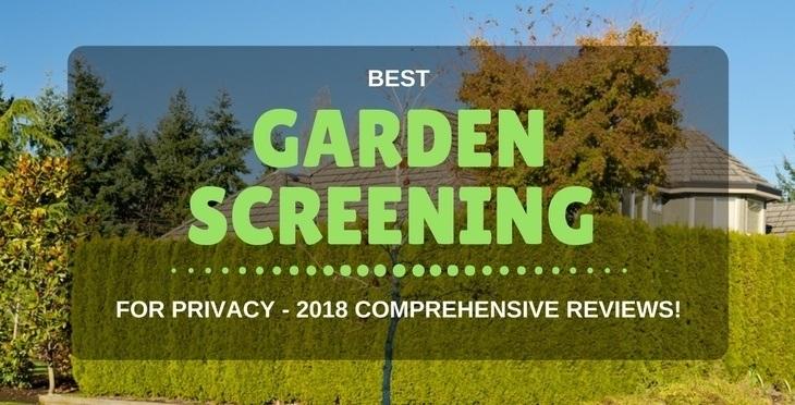best garden screening