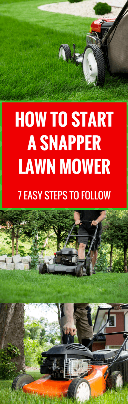 how to start a Snapper lawn mower pin it