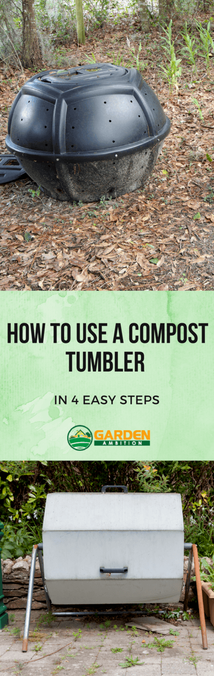 how to use a compost tumbler pin it