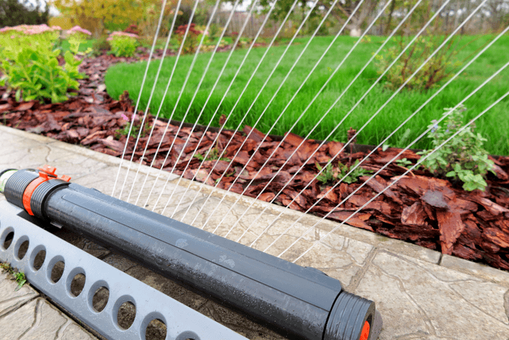 Lawn oscillating sprinklers offer more than just watering the garden