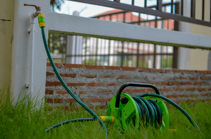 Some people prefer to use a hose reel with the longest hose