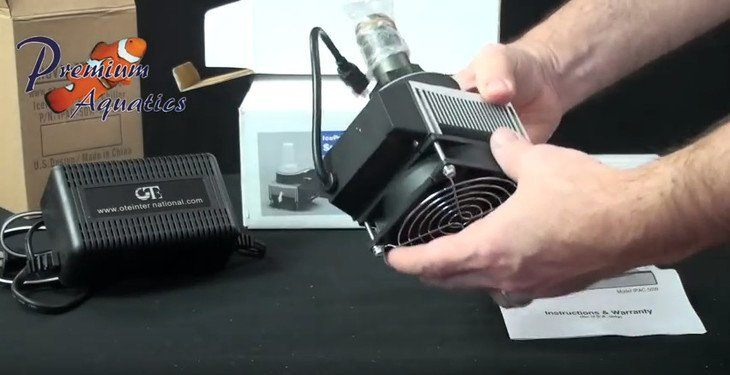 The Nova Tec IceProbe chiller by Coolworks is a compact cooling unit with the fan as the only moving part.