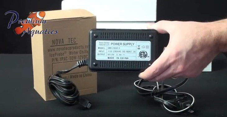 Use only the provided power supply to power the IceProbe chiller