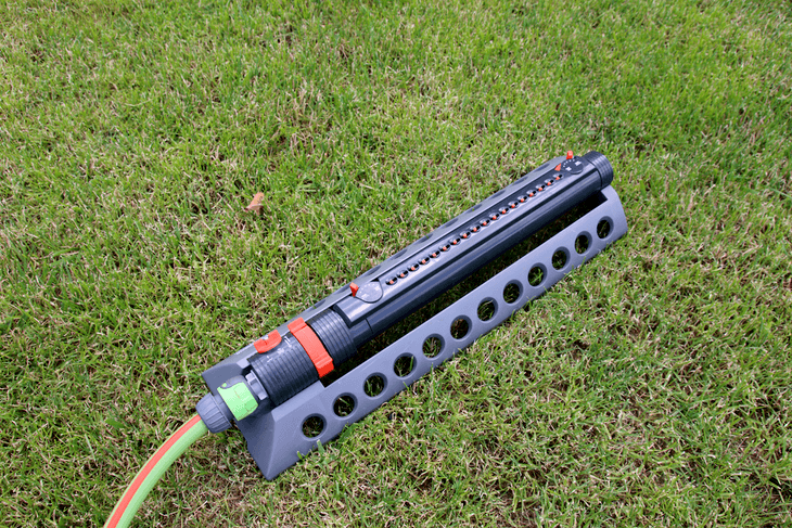 You need to familiarize yourself with the various controls and mechanisms of the oscillating sprinkler