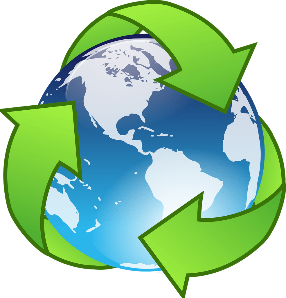 Reduce, reuse, recycle symbol